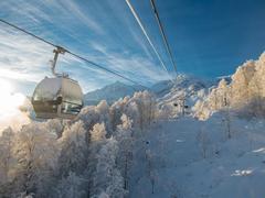 На горнолыжном курорте Сочи запустили 3 новых подъёмника